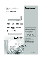 panasonic diga dmr eh50 manuals rh manualslib com panasonic dvd dmr-eh50 manual panasonic dvd recorder dmr-eh50 manual