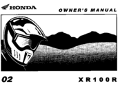 Honda 2002 XR100R Owner's Manual