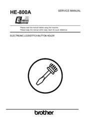 Brother HE-800A Service Manual