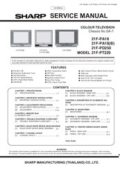 sharp 21f pt220 manuals rh manualslib com sharp tv service manual free download sharp led tv service manual