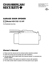 chamberlain garage door opener manual 1 2 hp