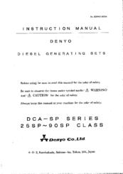 Denyo DCA-SP Series Manuals