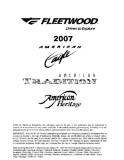 Fleetwood American Tradition Manuals on