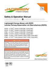 Jacobsen Kubota V1505-E3B Manuals