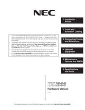 NEC DS1000 Operation Manual