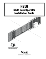LINEAR HSLG INSTALLATION MANUAL Pdf Download. on