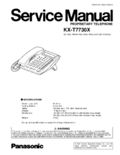 panasonic kx t7730x manuals rh manualslib com panasonic kx-t7730 user manual kx-t7730x user manual