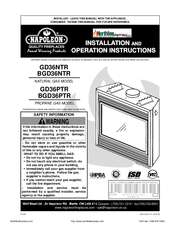 Napoleon bgd36ntr manuals napoleon bgd36ntr installation and operation instructions manual cheapraybanclubmaster Image collections