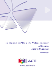 DOWNLOAD DRIVERS: ACTI ACD-2400