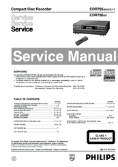 Philips CDR785/00 Service Manual