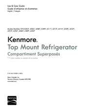 Kenmore 4213 Series Use & Care Manual