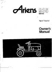 ARIENS 935015 HYDRO OWNER'S MANUAL Pdf Download. on