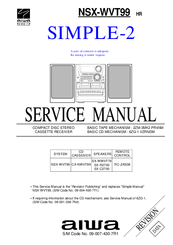 aiwa simple 2 nsx wvt99 hr manuals rh manualslib com