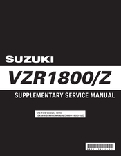 Suzuki Intruder VZR1800 Service Manual