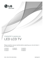 LG 47LM5800 Owner's Manual