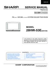 SHARP 28HW-53E SERVICE MANUAL Pdf Download