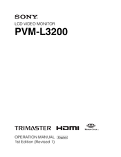 Sony Trimaster PVM-L3200 Operation Manual