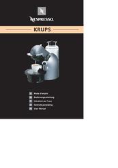 Nespresso Coffee Maker User Manuals : Nespresso Krups Manuals