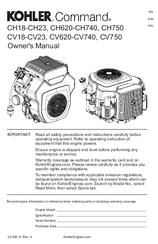 kohler command pro ch620 manuals rh manualslib com kohler owners manual for cub cadet kohler owners manual cub cadet