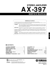 Yamaha AX-397 Service Manual