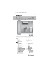 siemens euroset 2020 manuals rh manualslib com siemens fc2020 user manual siemens user manual oven