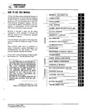 Honda Cb1100f Manuals
