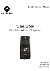 motorola w208 refresh manuals rh manualslib com Motorola User Manuals L 403 Owner's Manual Motorola