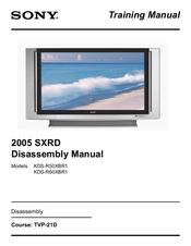 sony 2005 sxrd kds r60xbr1 manuals rh manualslib com sony kds r60xbr1 service manual Sony KDS-R60XBR1 Green Haze