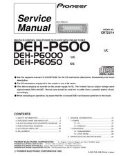 Pioneer deh p600 manuals manuals and user guides for pioneer deh p600 we have 2 pioneer deh p600 manuals available for free pdf download service manual cheapraybanclubmaster Gallery