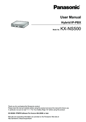 Panasonic KX-NS500 User Manual