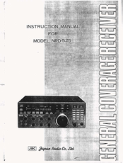 JRC NRD-525 Instruction Manual