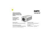 Sanyo VCC-6574P Instruction Manual