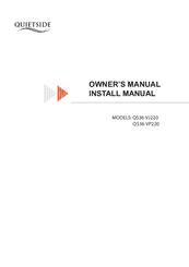 Quietside QS36-VJ220 Manuals