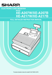 Sharp XE-A217W Instruction Manual