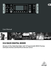 behringer x32 digital mixer manuals. Black Bedroom Furniture Sets. Home Design Ideas