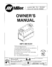 MILLER XMT 300 CC OWNER'S MANUAL Pdf Download | ManualsLibManualsLib