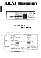 akai s950 manuals rh manualslib com akai s950 user manual akai s950 manuel