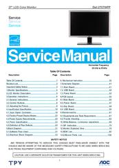 dell 2707wfp ultrasharp 27 lcd monitor manuals rh manualslib com dell led monitor service manual dell led monitor service manual