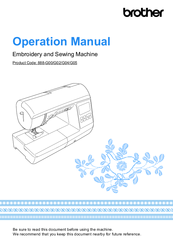 Brother 888-G00 Operation Manual