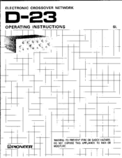 Pioneer D-23 Operating Instructions Manual