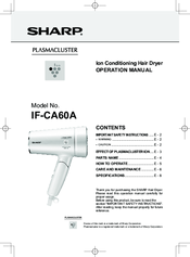 Sharp IF-CA60A Operation Manual