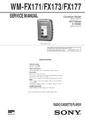 sony walkman wm fx173 manuals rh manualslib com Sony Walkman Radio Cassette Player Sony Sports Walkman Cassette Player