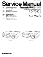 Panasonic AG-7350 Service Manual