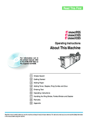 Toshiba 1105 Operating Instructions Manual