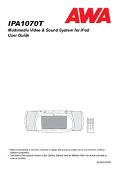 awa ipa1070t manuals rh manualslib com Operators Manual awa tv instruction manual