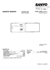 Sanyo FXD-C222 Service Manual