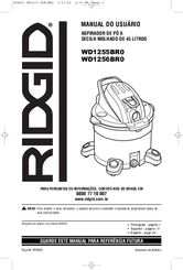 RIDGID WD1255BR0 Owner's Manual