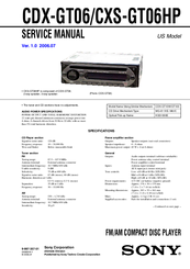 sony cdx gt06 service manual pdf download rh manualslib com Sony 52Wx4 Wire Diagram Sony 52Wx4 Wire Diagram