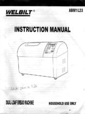 welbilt abm1l23 manuals rh manualslib com welbilt bread maker abm1l23 manual