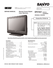 sanyo dp37647 37 vizzon lcd tv manuals rh manualslib com sanyo television manual dp26640 sanyo tv manual pdf